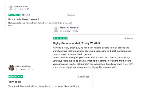 AMZDFY Trustpilot Positive Reviews