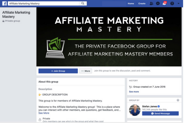 Affiliate Marketing Mastery Facebook Group