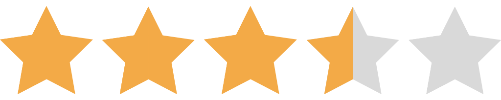 3.5 Star Rating NEW