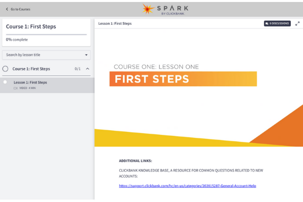 Spark By ClickBank Course 1
