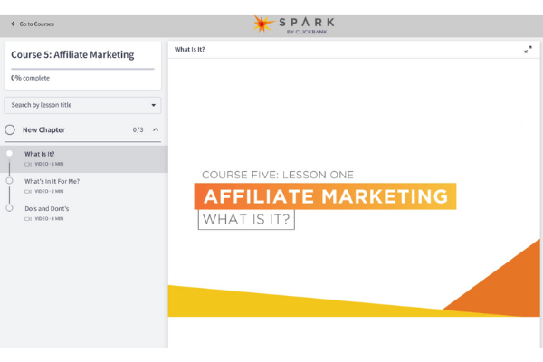 Spark By ClickBank Course 5