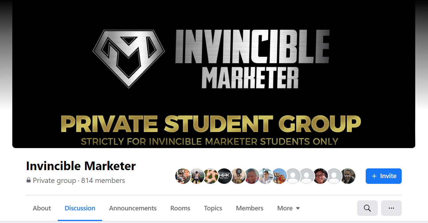 Invincible Marketer Facebook Group And Community