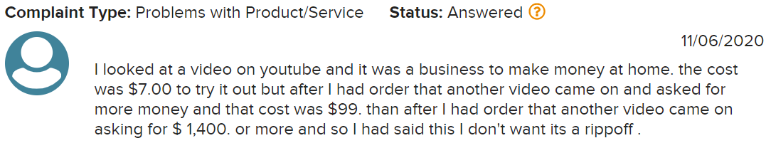 is partner with anthony a scam complaints