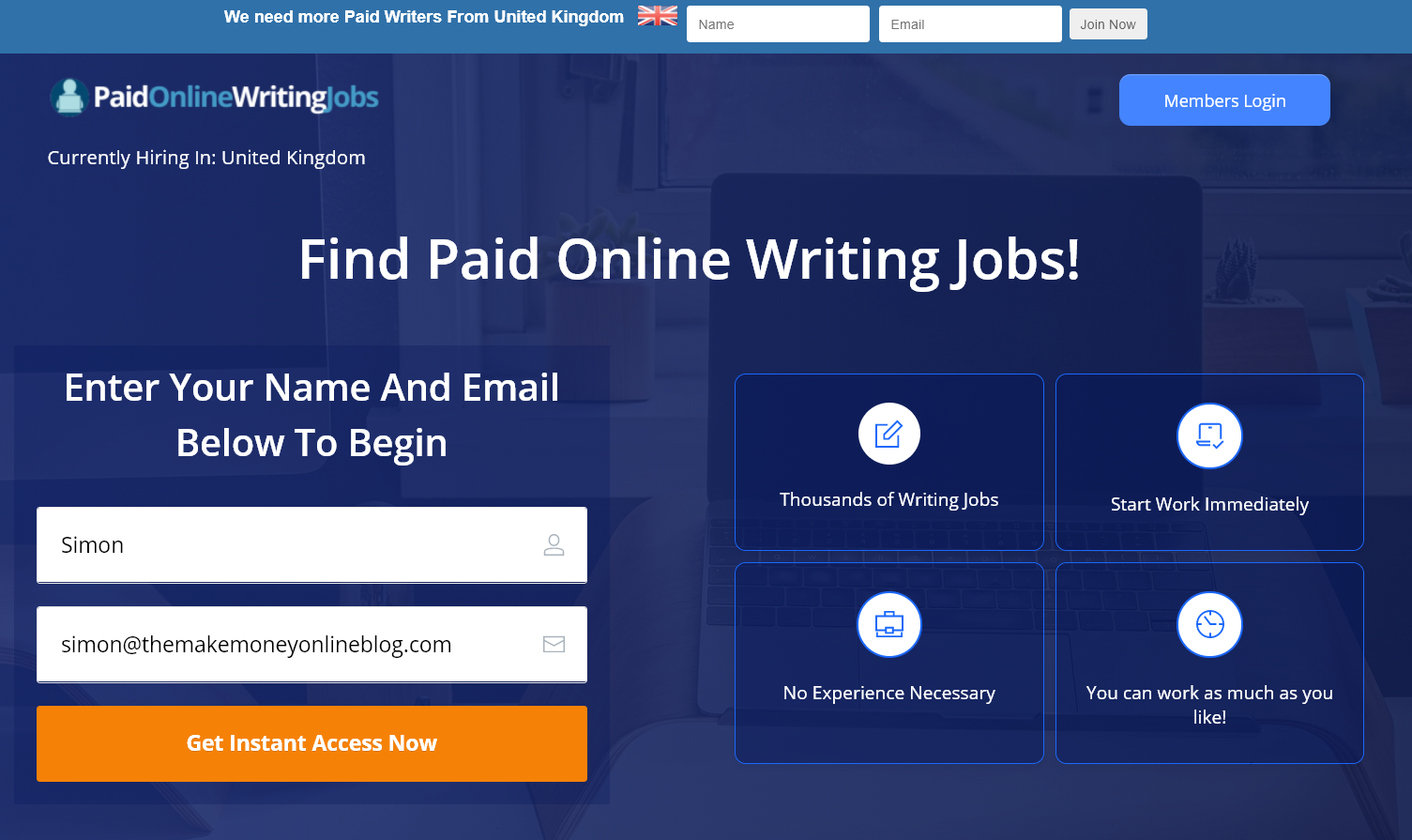 what is paid online writing jobs