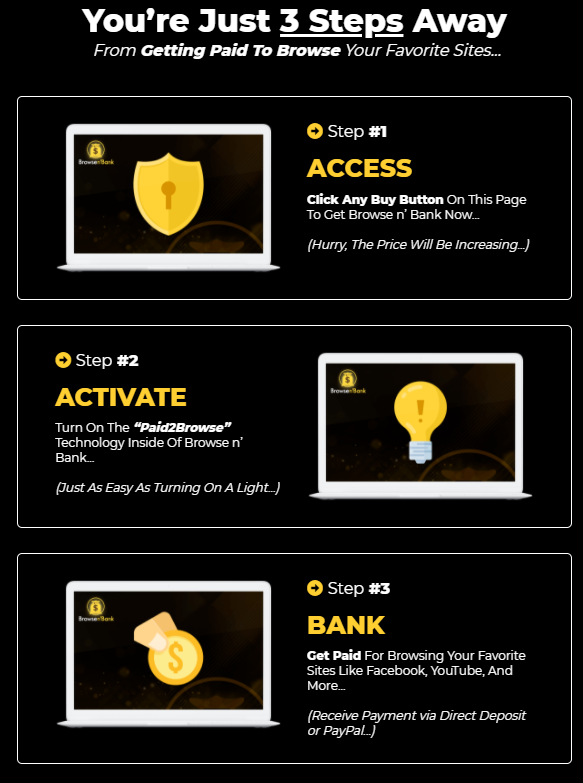 how browse n bank works 3 steps